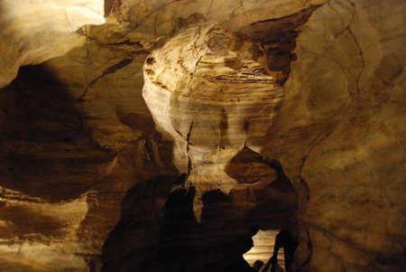 speleology: Inside a cave during a speleological trip