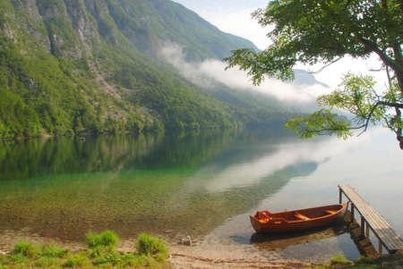 bohinj: Still life with Lake Bohinj Stock Photo