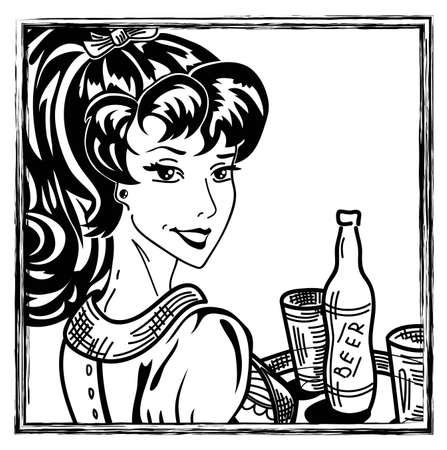 saxy: classic pin-up girl portrait