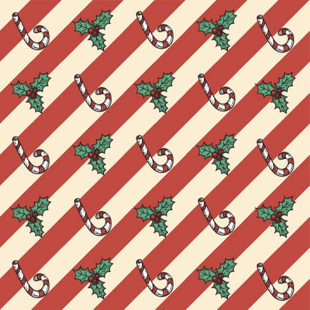 Retro Christmas seamless pattern: backgrounds, wrapper, cards Stock Vector - 19425380