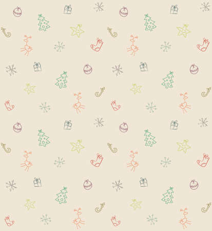 funny seamless Christmas pattern Stock Vector - 19425350