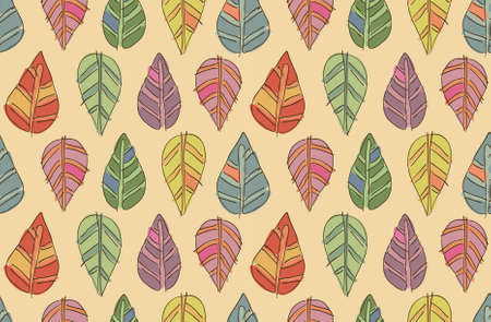 funny autumn seamless vector leaf texture