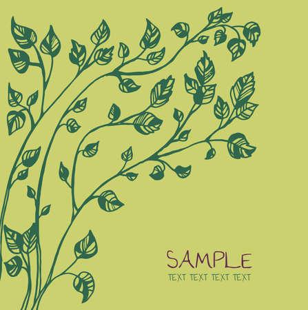 green tree card template