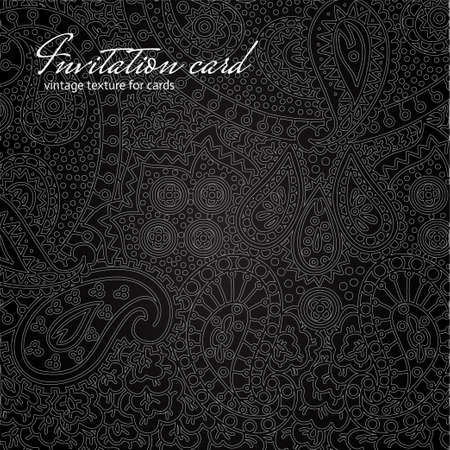 Elegant black floral invitation card