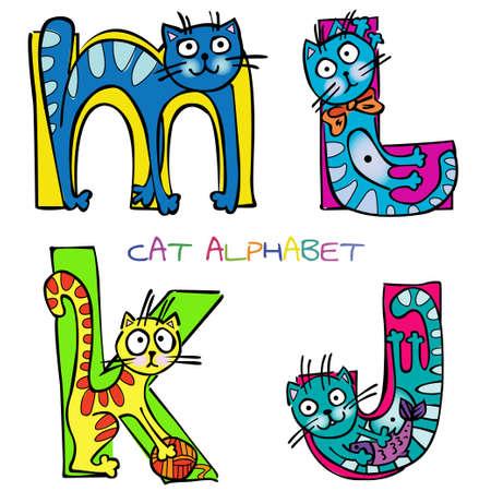 cat alphabet j k l m