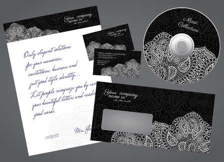 business style elegant black concept set Illustration