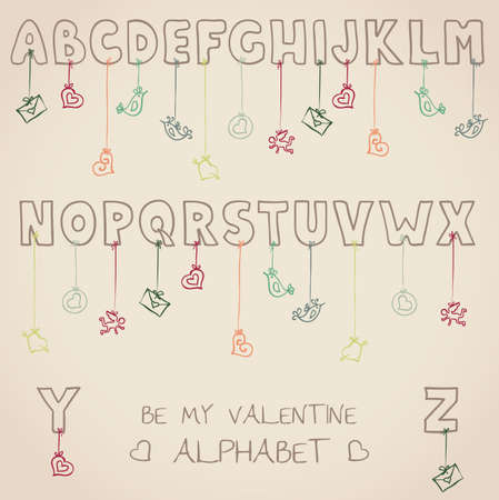 be my valentine alphabet Stock Vector - 19759180