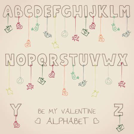 be my valentine alphabet Stock Vector - 19759180