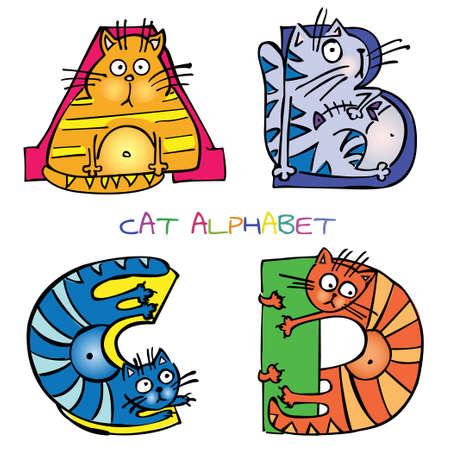 bright alphabet: cat alphabet a b c d