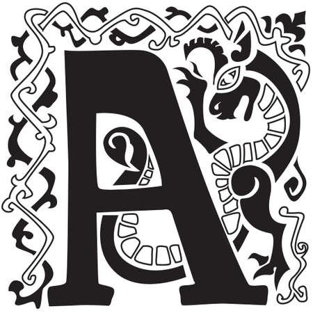 gargouille: majuscule gargouille A