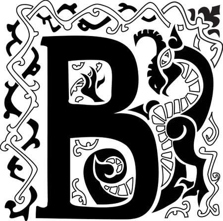 gargouille: gargouille capitale lettre B