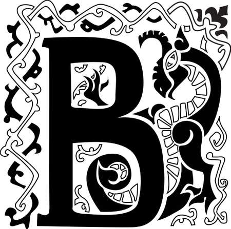 gargoyle capital letter B Stock Vector - 19759127