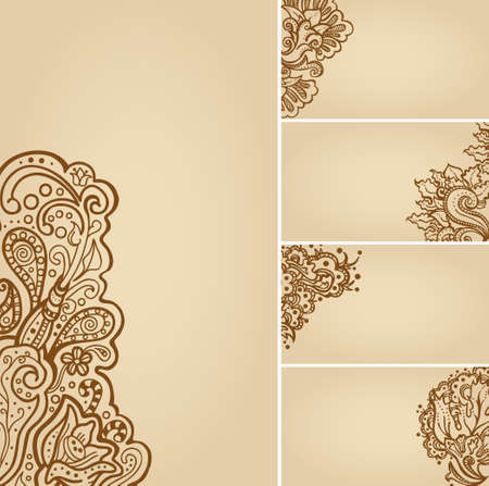 Set of henna tattoo floral banners and business card templates set of henna tattoo floral banners and business card templates stock vector 19759160 wajeb Gallery