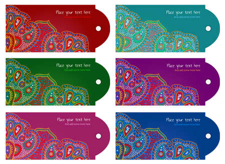 bright floral tag set for gifts and goods