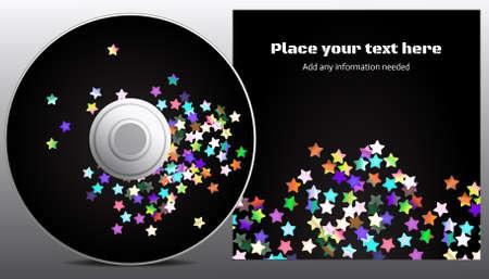 copy spase: cd design in disco stars style Illustration