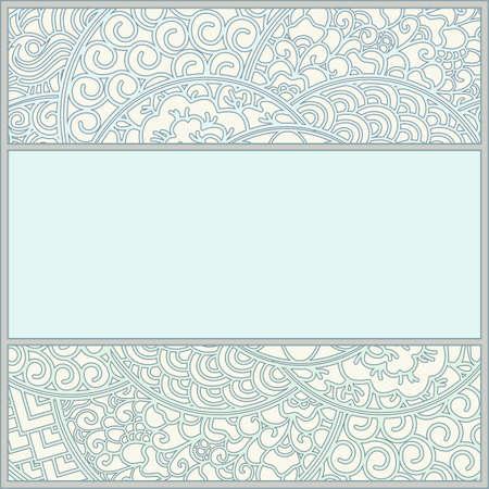 art nouveau frame: template in art-nouveau style