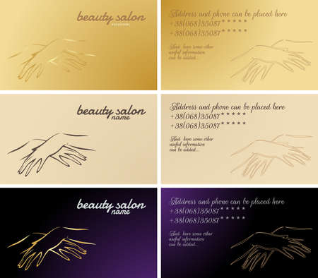 set of business cards, cosmetic and manicure services Vector