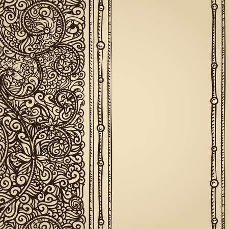 vintage parchment card Stock Vector - 20839507