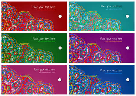 Set of gift or goods tags and labels Illustration