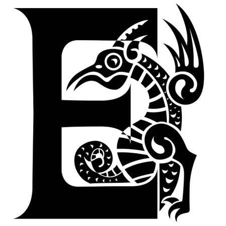 gargouille: gargouille capitale lettre E