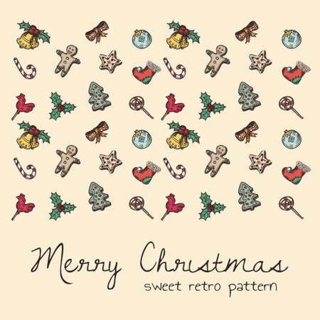 sweet retro seamless pattern for christmas theme Vector