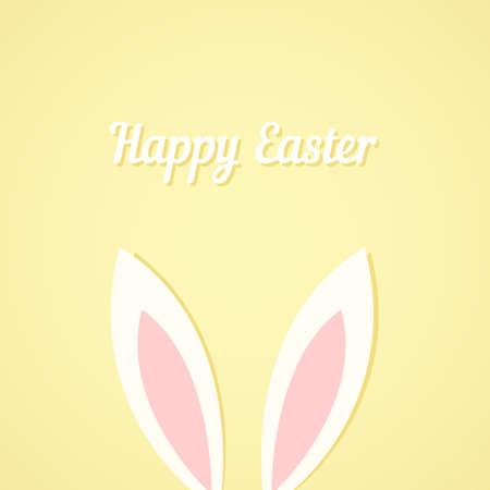 bunny cartoon: Easter bunny ears card Illustration