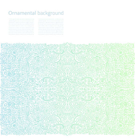 Vector ornamental background with copy space Vector