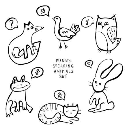 Animal doodles Vector