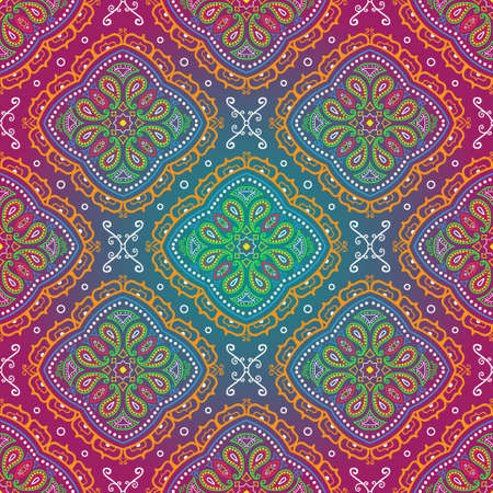 Seamless psychedelic paisley background