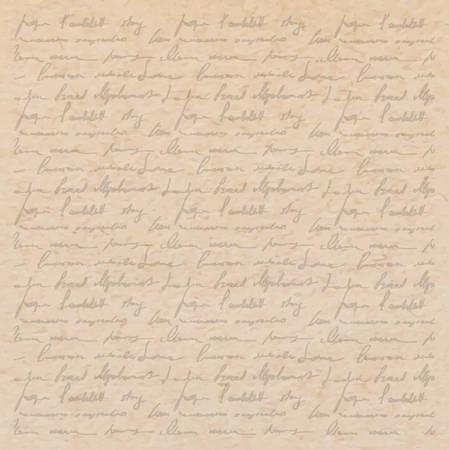 Vintage alten Papier Textur mit handschrift mit Gedichten Hintergrund, Scrapbooking viktorianischen Stil Seite, von Hand gezeichnet Vektor-Illustration