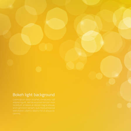 yellow background: Abstract background with yellow gold glow bokeh - glowing particles on edges are hidden under clipping mask