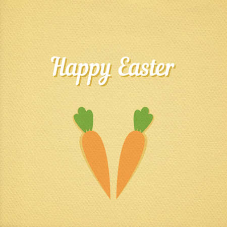 old texture: Vector Easter carrot green background, realistic paper effect color cardboard background Illustration