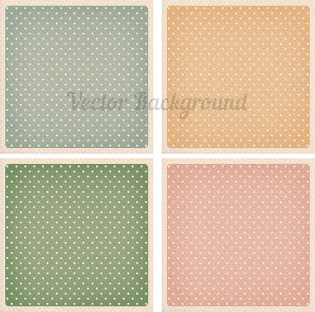 Set of vector vintage dotted backgrounds with realistic cardboard set of vector vintage dotted backgrounds with realistic cardboard paper effect framed templates for cards maxwellsz