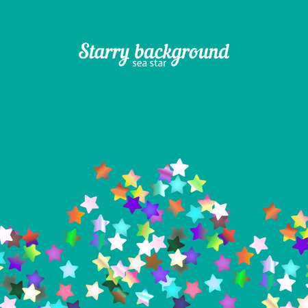 holographic: Holographic foil stars glitter on bright background with copy space Illustration