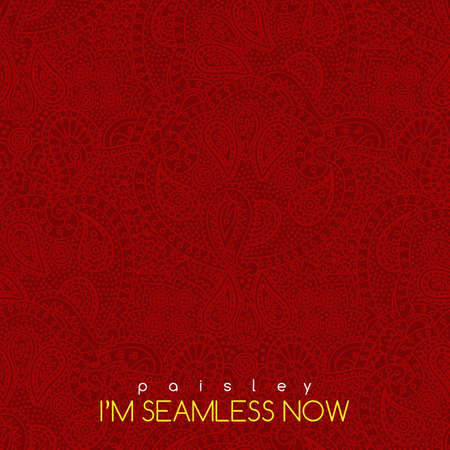seamless vintage red paisley texture for cards and design Stock Vector - 41547412