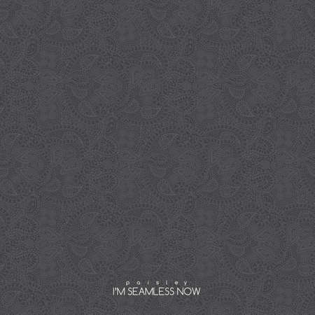 Vector seamless vintage grey paisley texture for cards and design