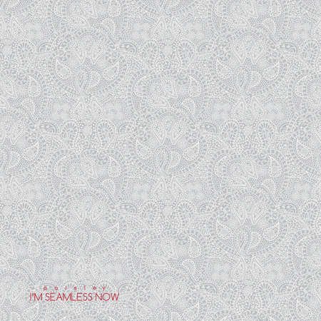 Vector seamless vintage light paisley texture for cards and design