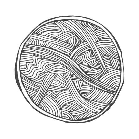 clew: Vector illustration of abstract waved pattern, round vignette background