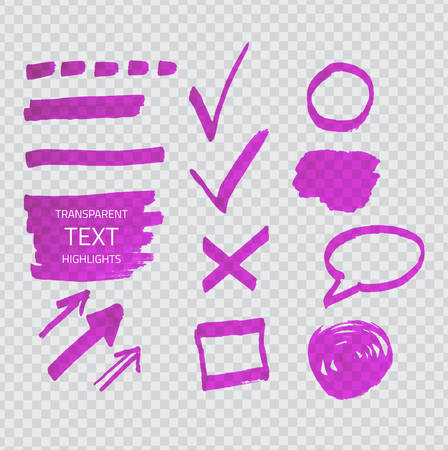 cross: Transparent purple highlighter marks on gray grid