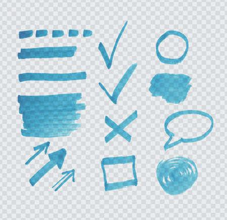 handdrawn: Transparent highlighter marks on gray grid