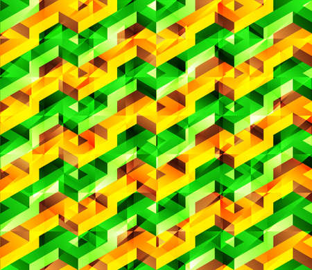 glitch: Vettore lowpoly disegno geometrico isometrica con effetto lucido problema tecnico