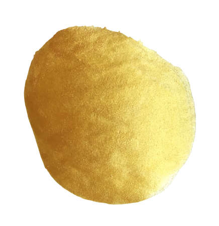 Vector golden foil round background template for cards, hand drawn backdrop - invitations, posters, cards. Stock Illustratie