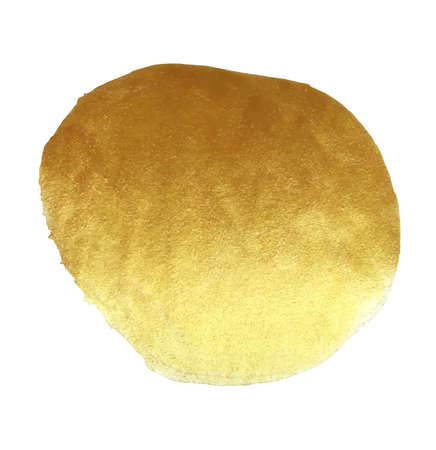 Vector golden foil round background template for cards, hand drawn backdrop - invitations, posters, cards. Vettoriali