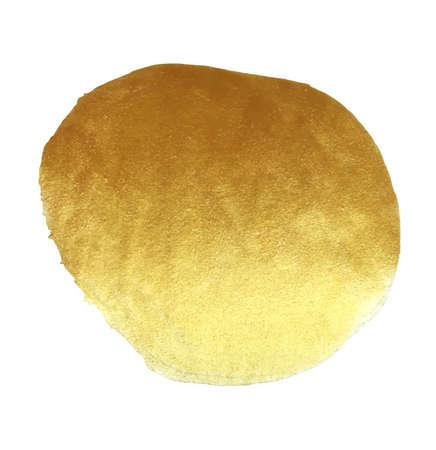 Vector gouden folie round achtergrond sjabloon voor kaarten, met de hand getekende achtergrond - uitnodigingen, posters, kaarten. Stock Illustratie