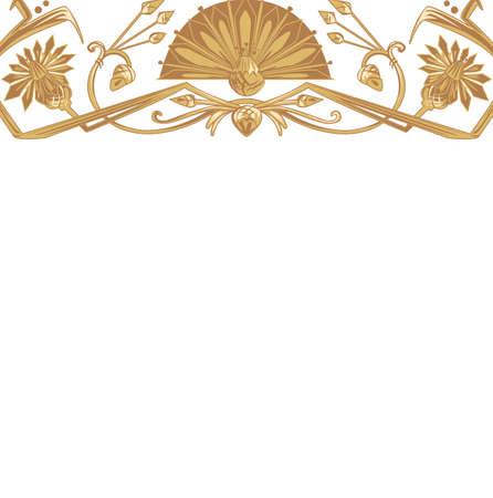 artnouveau: Vector illustration of egypt ornament background with copy space