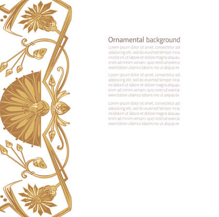 copy space: Vector illustration of egypt ornament background with copy space