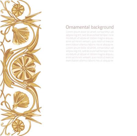 artnouveau: Vector illustration of floral ornament background with copy space Illustration