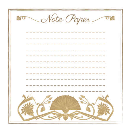 devider: Vector illustration of scrapbooking template for note paper with egypt ornament