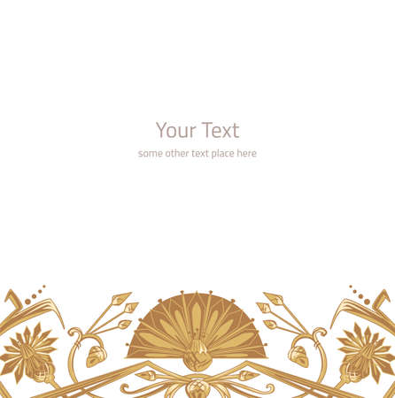 devider: Vector illustration of egypt ornament background with copy space