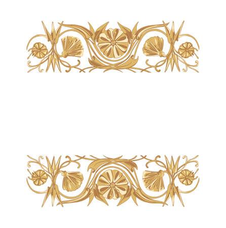 devider: Vector illustration of floral ornament background with copy space Illustration